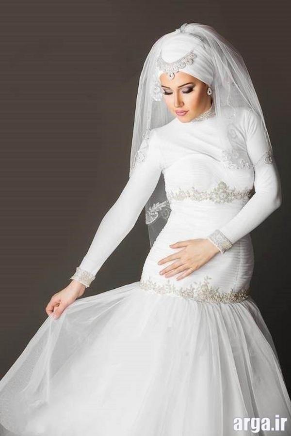 لباس عروس پوشیده جذاب