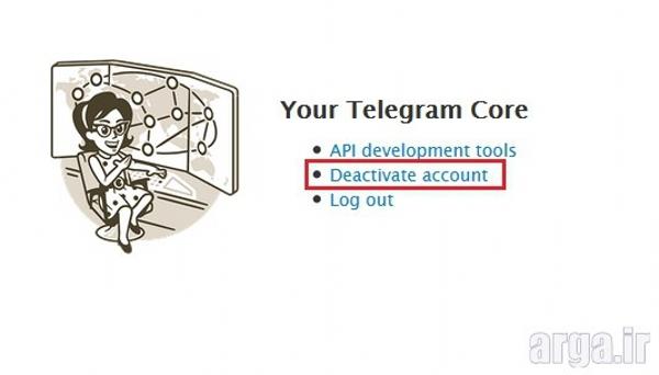 پاک کردن اکانت تلگرام مرحله سوم