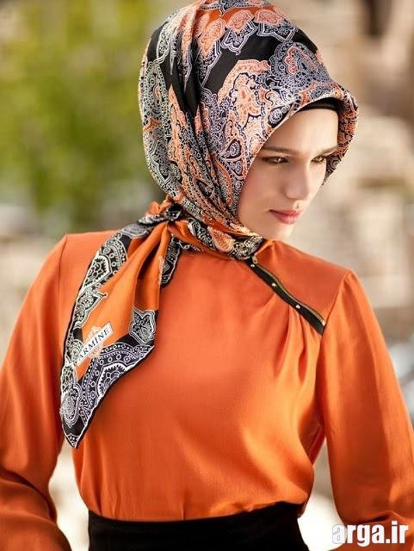 آموزش بستن روسری به شیوه زیبا