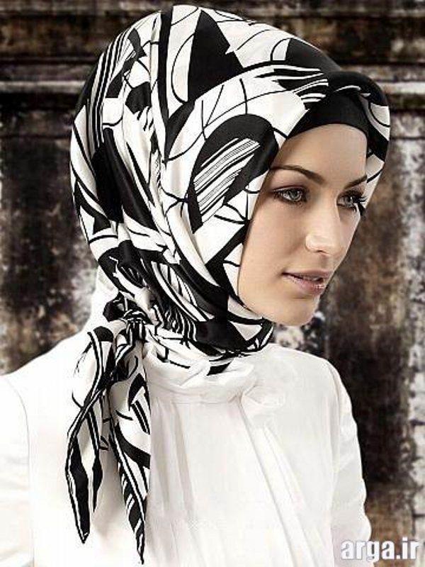 شیوه های جدید بستن روسری
