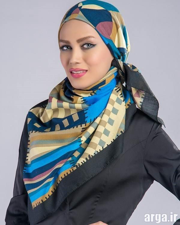 شیوه بستن روسری با سبک زیبا