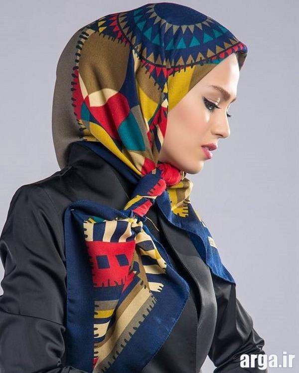 شیوه بستن روسری با سبک جدید