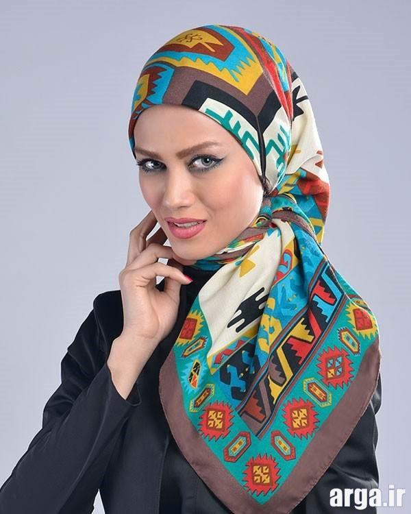 شیوه بستن روسری با سبک مدرن