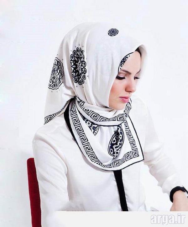 آموزش بستن روسری به شیوه جدید