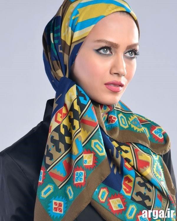 شیوه بستن روسری با سبک جذاب