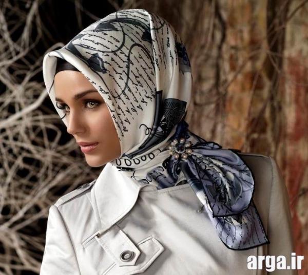 آموزش بستن روسری به شیوه شیک