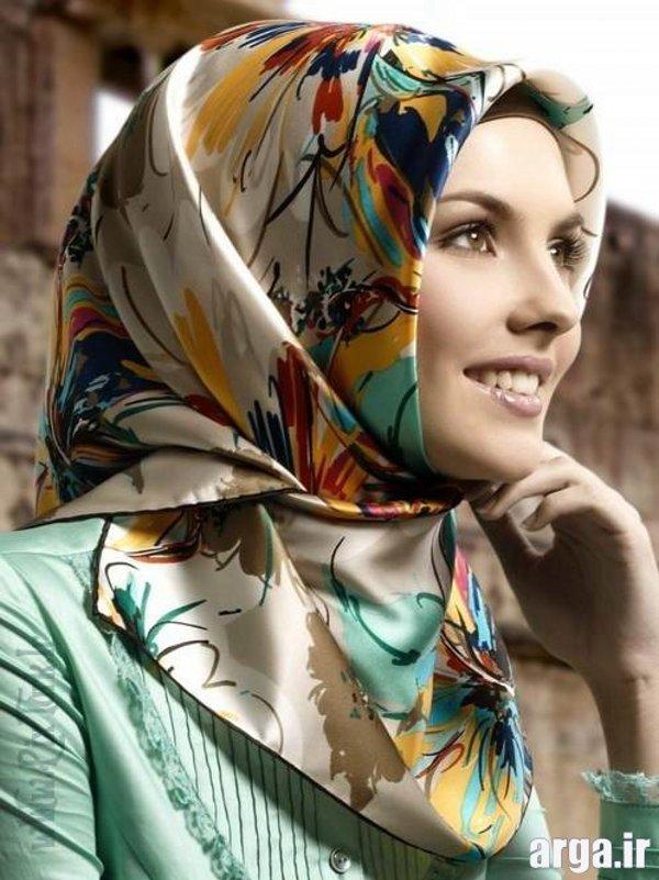 آموزش بستن روسری به شیوه مدرن