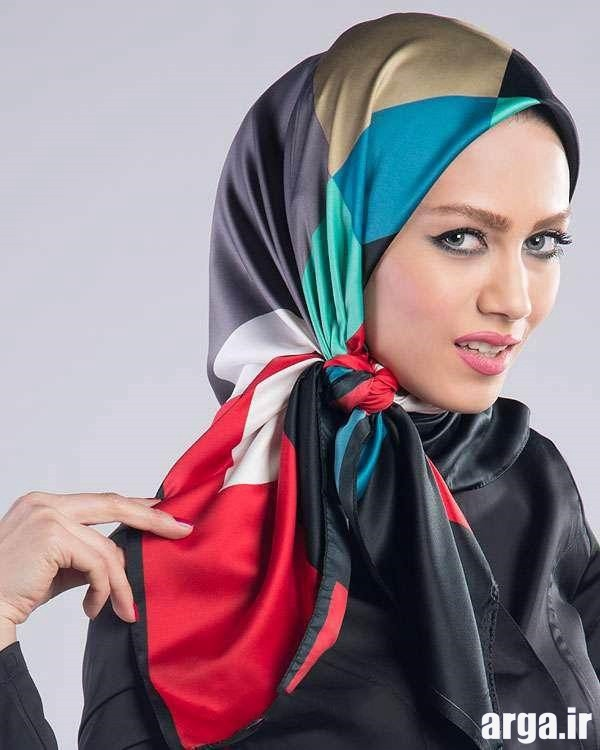 آموزش بستن روسری به شیوه جذاب