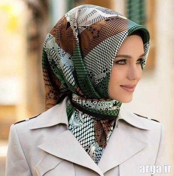 بستن روسری به شیوه شیک