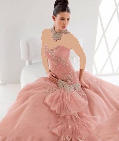 لباس عروس رنگی زیبا