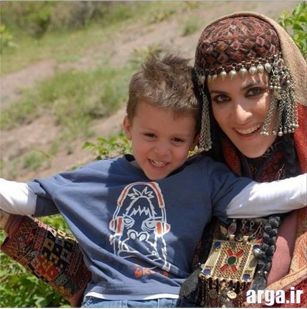 ویشکا آسایش و پسرش