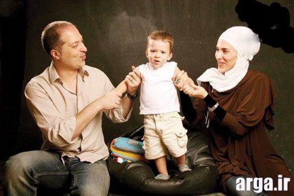 ویشکا آسایش و همسر و فرزندش