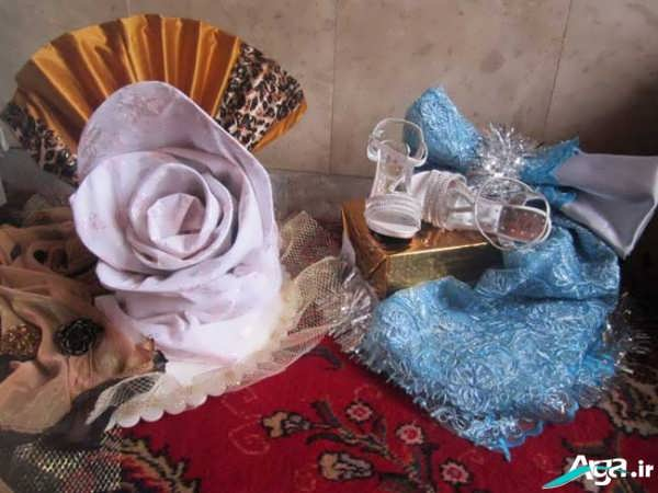 تزیین وسایل و هدایای عروس