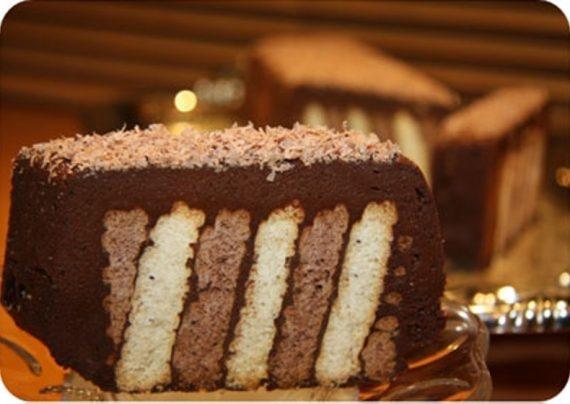 دسر شکلاتی با بیسکویت پتی پور