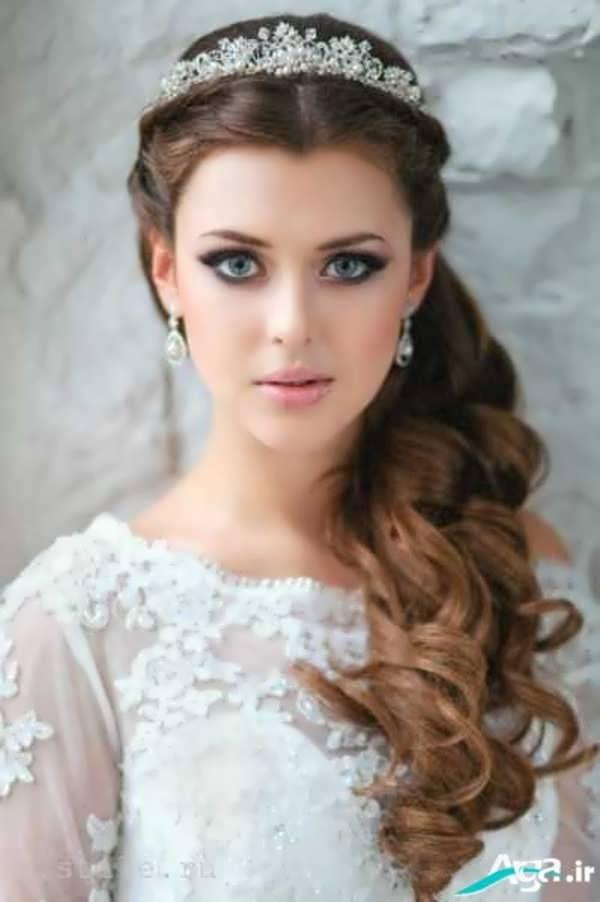 مدل بسیار زیبای آرایش موی عروس