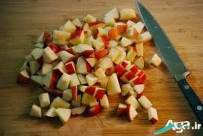 سیب های خرد شده