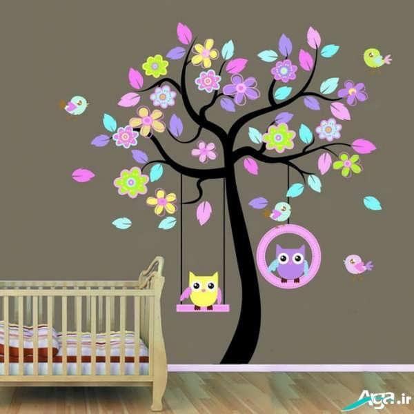 تزیین دیوار اتاق خواب نوزاد