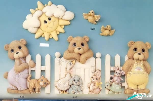 تزیین دیوارهای اتاق نوزاد