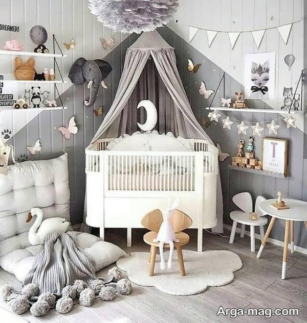 دکوراسیون شیک اتاق خواب نوزاد