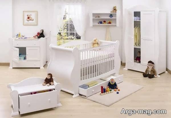 سرویس خواب نوزادان سفید
