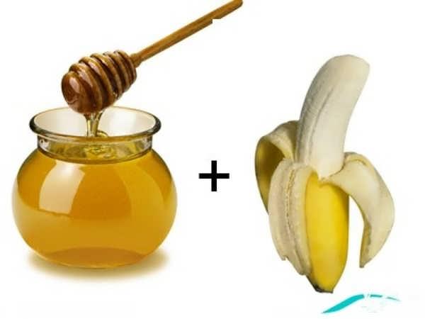 موز و عسل برای تهیه ماسک موز