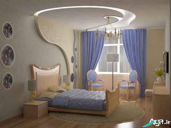 پرده آبی اتاق خواب