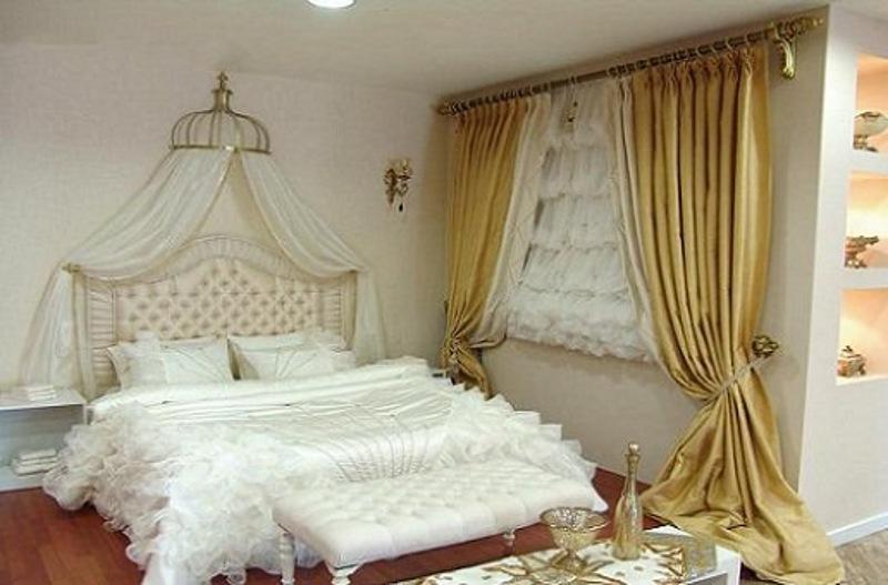 مدل پردهای جدید اتاق خواب عروس 2017
