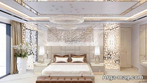 طراحی اتاق خواب عروس با چیدمان تماشایی
