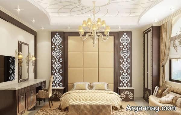 طراحی اتاق خواب عروس با چیدمان منحصر به فرد