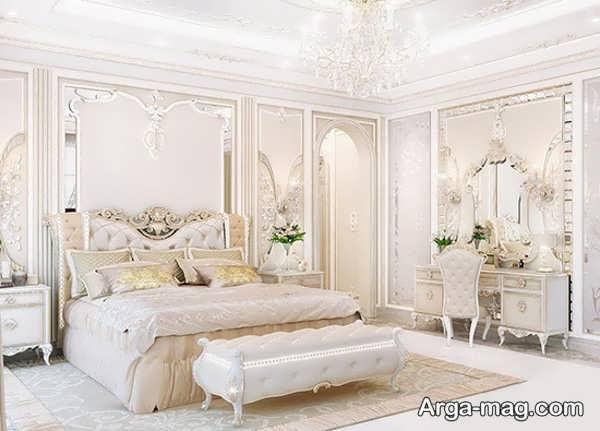 طراحی اتاق خواب عروس با چیدمان جدید