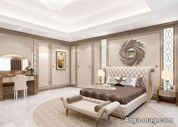 طراحی اتاق خواب عروس با چیدمان خاص