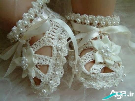 مدل کفش قلاب بافی