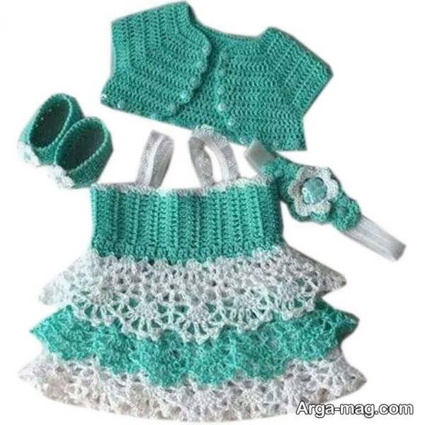 لباس قلاب بافی جدید بچگانه