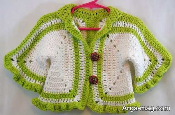لباس قلاب بافی بچگانه با طراحی جالب