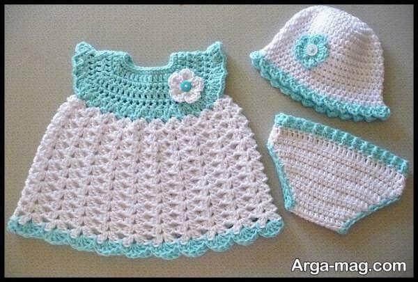 لباس قلاب بافی بچگانه با طراحی خاص