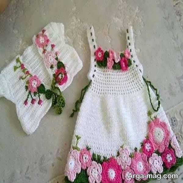 لباس قلاب بافی جالب بچگانه