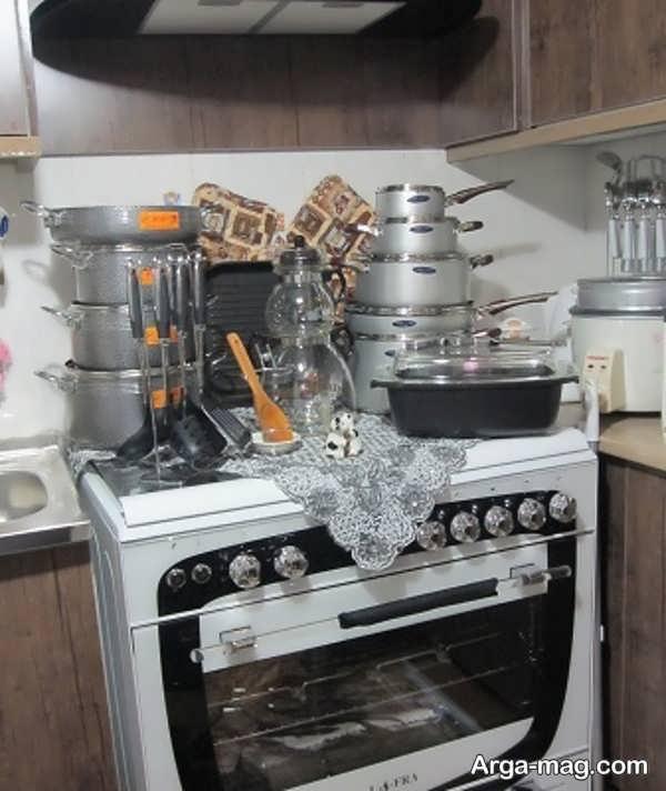 دیزاین وسایل آشپزخانه عروس با ایده تماشایی