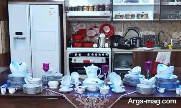 دیزاین وسایل آشپزخانه عروس با ایده شیک