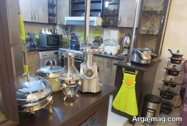 تزیینات جالب توجه وسایل آشپزخانه عروس