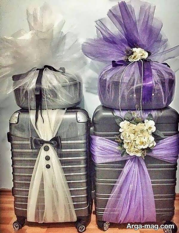 تزیینات مدرن چمدان عروس و داماد