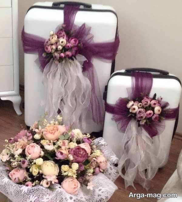 مدل منحصر به فرد دیزاین چمدان عروس و داماد