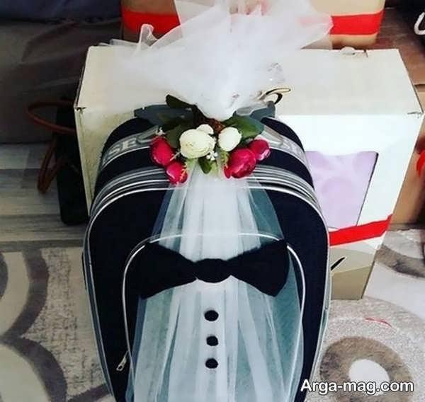 مدل فوق العاده دیزاین چمدان عروس و داماد