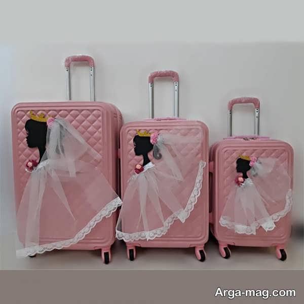 تزیینات متفاوت چمدان عروس و داماد