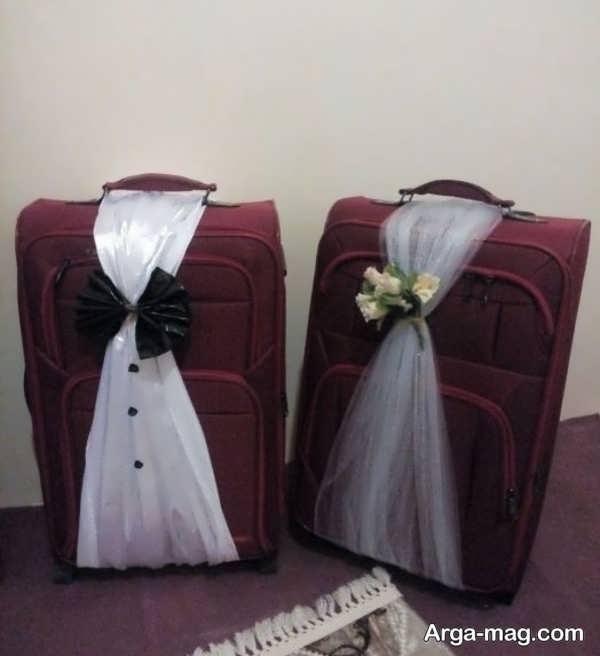 تزیینات بی نظیر چمدان عروس و داماد
