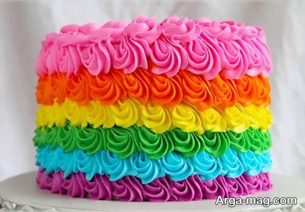 تزیین کیک با خامه رنگی