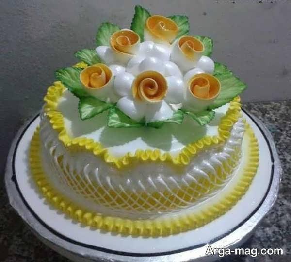 تصاویری از تزیینات کیک با خامه