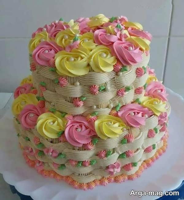 انواع تزیینات کیک با خامه