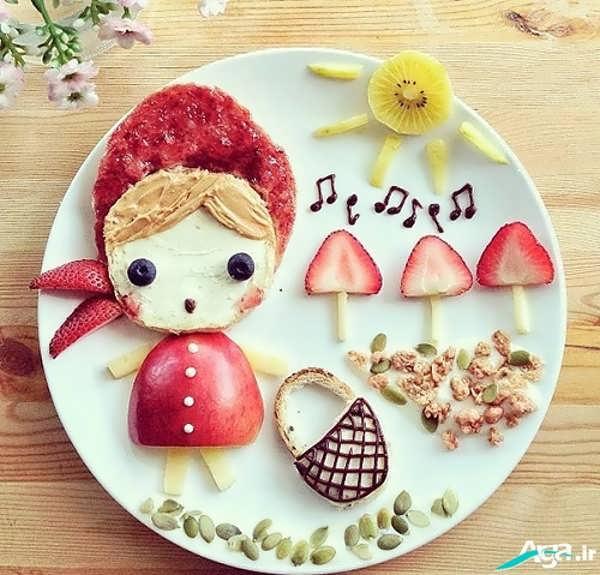تزیین غذای کودکانه