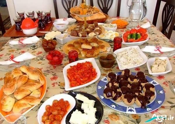 تزیین مربا و پنیر