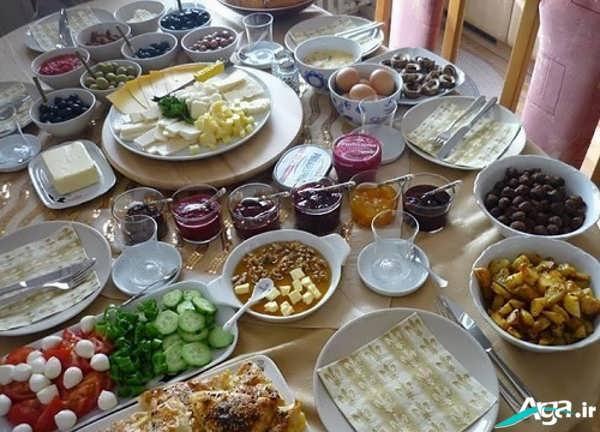 تزیینات صبحانه برای مهمان